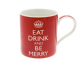 Eat Drink And Be Merry!! Red Christmas Mug Great Gift!